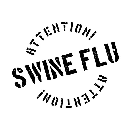 influenza: Swine Flu rubber stamp. Grunge design with dust scratches. Effects can be easily removed for a clean, crisp look. Color is easily changed. Illustration