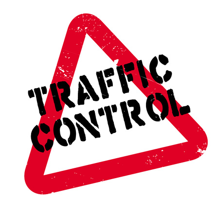 Traffic Control rubber stamp. Grunge design with dust scratches. Effects can be easily removed for a clean, crisp look. Color is easily changed. Illustration