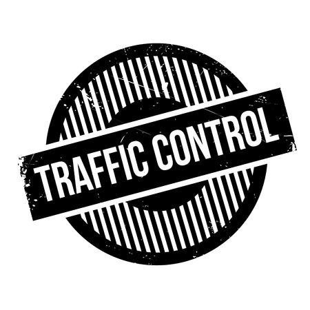 clout: Traffic Control rubber stamp. Grunge design with dust scratches. Effects can be easily removed for a clean, crisp look. Color is easily changed. Illustration