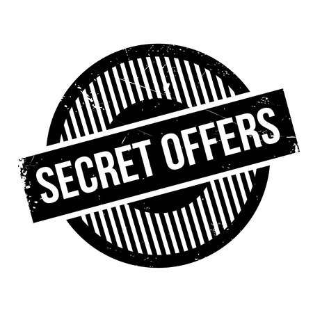 stealthy: Secret Offers rubber stamp. Grunge design with dust scratches. Effects can be easily removed for a clean, crisp look. Color is easily changed. Illustration
