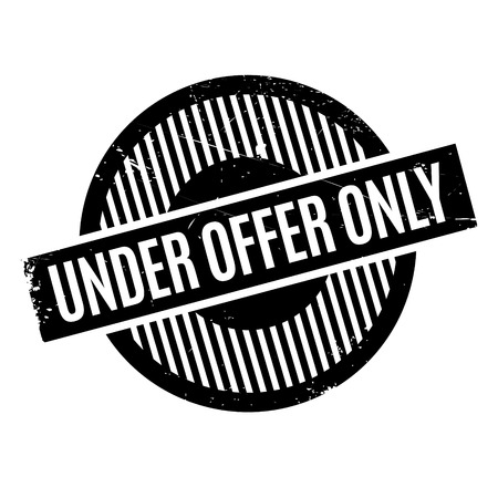 Under Offer Only rubber stamp. Grunge design with dust scratches. Effects can be easily removed for a clean, crisp look. Color is easily changed. Illustration