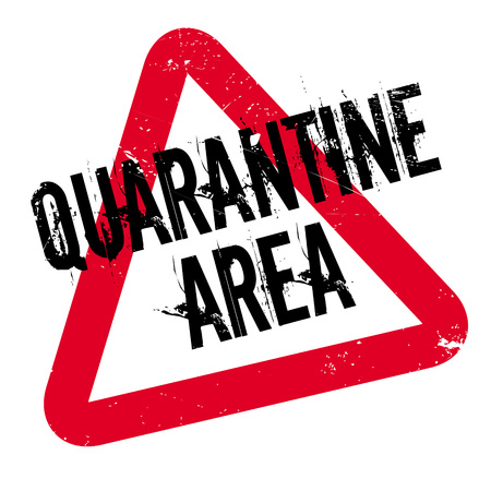 breadth: Quarantine Area rubber stamp. Grunge design with dust scratches. Effects can be easily removed for a clean, crisp look. Color is easily changed. Illustration