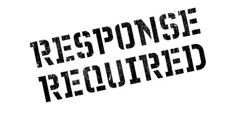 response: Response Required rubber stamp. Grunge design with dust scratches. Effects can be easily removed for a clean, crisp look. Color is easily changed.