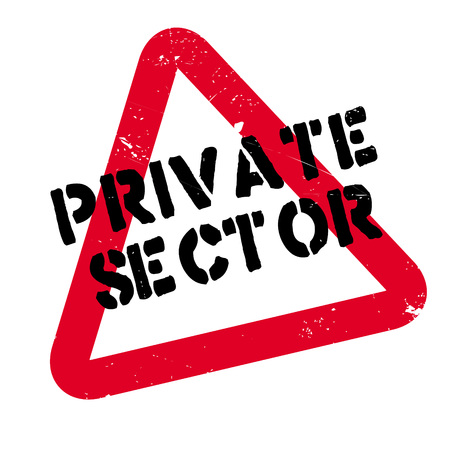 Private Sector rubber stamp. Grunge design with dust scratches. Effects can be easily removed for a clean, crisp look. Color is easily changed.