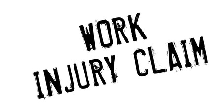 Work Injury Claim rubber stamp. Grunge design with dust scratches. Effects can be easily removed for a clean, crisp look. Color is easily changed. Illustration