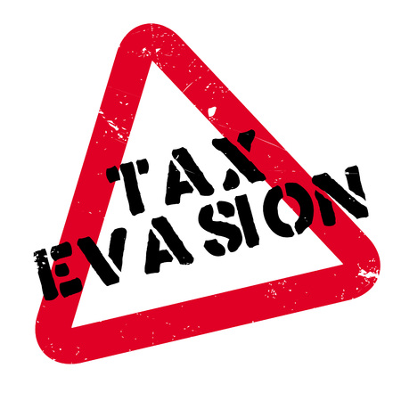 Tax Evasion rubber stamp. Grunge design with dust scratches. Effects can be easily removed for a clean, crisp look. Color is easily changed. Vettoriali