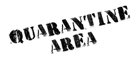 Quarantine Area rubber stamp. Grunge design with dust scratches. Effects can be easily removed for a clean, crisp look. Color is easily changed. Illustration