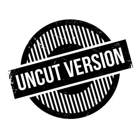 unedited: Uncut Version rubber stamp. Grunge design with dust scratches. Effects can be easily removed for a clean, crisp look. Color is easily changed.