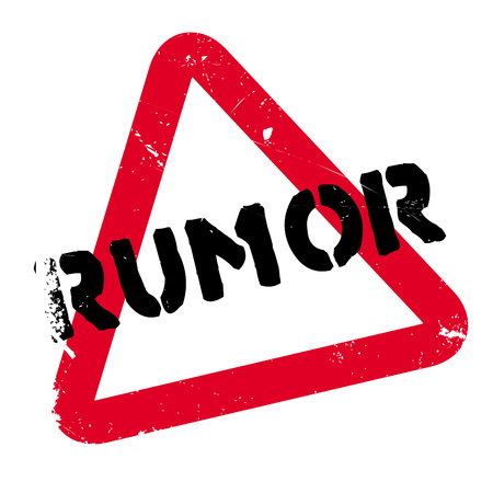 Rumor rubber stamp. Grunge design with dust scratches. Effects can be easily removed for a clean, crisp look. Color is easily changed. Illustration
