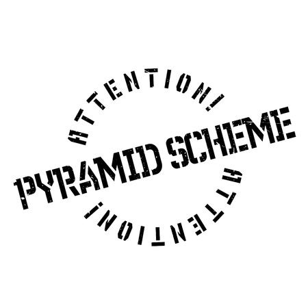 unsustainable: Pyramid Scheme rubber stamp. Grunge design with dust scratches. Effects can be easily removed for a clean, crisp look. Color is easily changed. Illustration