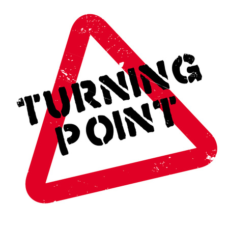 old times: Turning Point rubber stamp. Grunge design with dust scratches. Effects can be easily removed for a clean, crisp look. Color is easily changed.