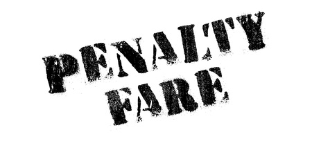 retribution: Penalty Fare rubber stamp. Grunge design with dust scratches. Effects can be easily removed for a clean, crisp look. Color is easily changed.