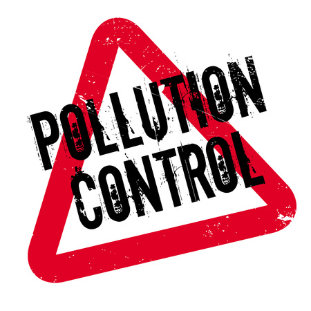 Pollution Control rubber stamp. Grunge design with dust scratches. Effects can be easily removed for a clean, crisp look. Color is easily changed.