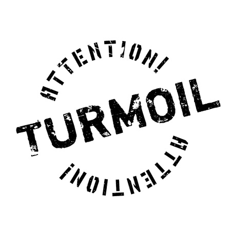 commotion: Turmoil rubber stamp. Grunge design with dust scratches. Effects can be easily removed for a clean, crisp look. Color is easily changed.