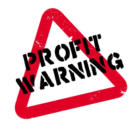 Profit Warning rubber stamp. Grunge design with dust scratches. Effects can be easily removed for a clean, crisp look. Color is easily changed. Illustration