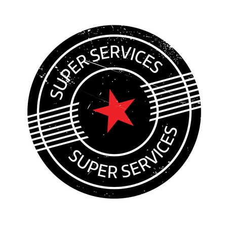 sensational: Super Services rubber stamp. Grunge design with dust scratches. Effects can be easily removed for a clean, crisp look. Color is easily changed.