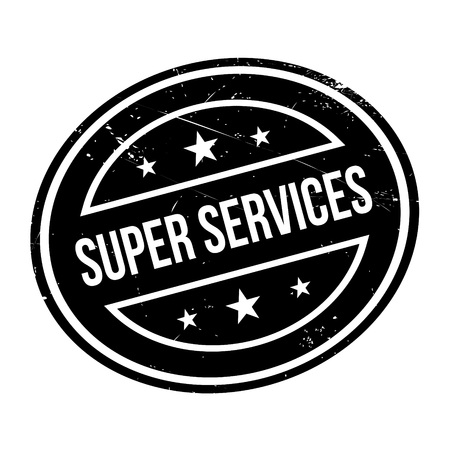 indulgence: Super Services rubber stamp. Grunge design with dust scratches. Effects can be easily removed for a clean, crisp look. Color is easily changed.