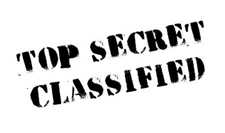 obscure: Top Secret Classified rubber stamp. Grunge design with dust scratches. Effects can be easily removed for a clean, crisp look. Color is easily changed. Illustration