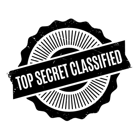 Top Secret Classified rubber stamp. Grunge design with dust scratches. Effects can be easily removed for a clean, crisp look. Color is easily changed. Illustration