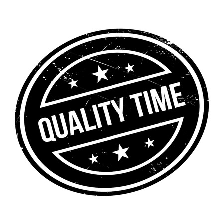 affirmation: Quality Time rubber stamp. Grunge design with dust scratches. Effects can be easily removed for a clean, crisp look. Color is easily changed.