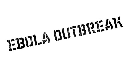 infectious disease: Ebola Outbreak rubber stamp. Grunge design with dust scratches. Effects can be easily removed for a clean, crisp look. Color is easily changed.