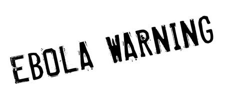 Ebola Warning rubber stamp. Grunge design with dust scratches. Effects can be easily removed for a clean, crisp look. Color is easily changed. Illustration