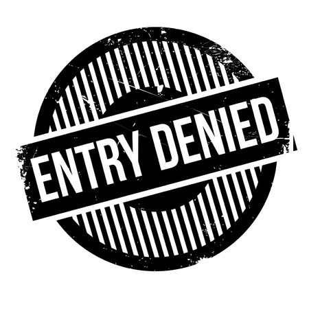 contradict: Entry Denied rubber stamp. Grunge design with dust scratches. Effects can be easily removed for a clean, crisp look. Color is easily changed.