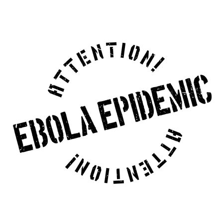infectious disease: Ebola Epidemic rubber stamp. Grunge design with dust scratches. Effects can be easily removed for a clean, crisp look. Color is easily changed.