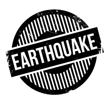 quake: Earthquake rubber stamp. Grunge design with dust scratches. Effects can be easily removed for a clean, crisp look. Color is easily changed.