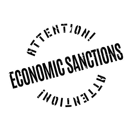 budget restrictions: Economic Sanctions rubber stamp. Grunge design with dust scratches. Effects can be easily removed for a clean, crisp look. Color is easily changed. Illustration