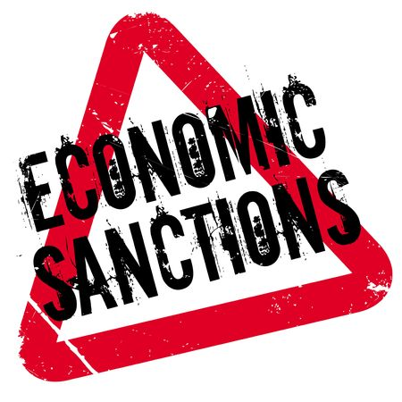 Economic Sanctions rubber stamp. Grunge design with dust scratches. Effects can be easily removed for a clean, crisp look. Color is easily changed. Illustration