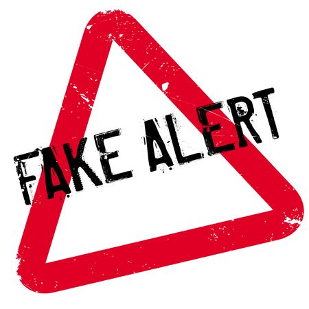 Fake Alert rubber stamp. Grunge design with dust scratches. Effects can be easily removed for a clean, crisp look. Color is easily changed. Illustration