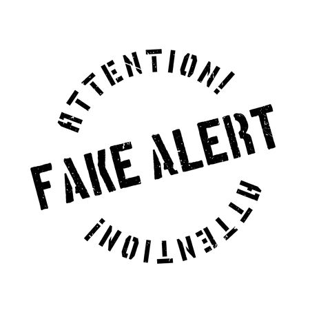 cagey: Fake Alert rubber stamp. Grunge design with dust scratches. Effects can be easily removed for a clean, crisp look. Color is easily changed. Stock Photo