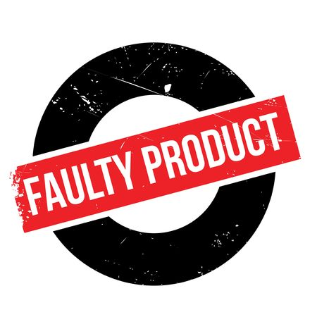 consumer rights: Faulty Product rubber stamp. Grunge design with dust scratches. Effects can be easily removed for a clean, crisp look. Color is easily changed.