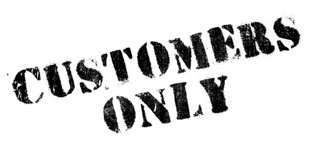 prospects: Customers Only rubber stamp. Grunge design with dust scratches. Effects can be easily removed for a clean, crisp look. Color is easily changed.