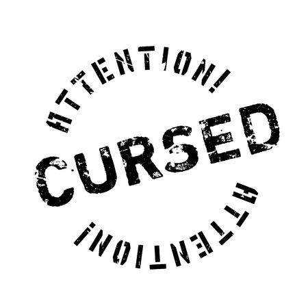 cursed: Cursed rubber stamp. Grunge design with dust scratches. Effects can be easily removed for a clean, crisp look. Color is easily changed. Illustration