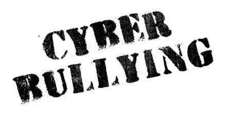 Cyber ??Bullying Stempel. Grunge-Design mit Staub Kratzer. Die Effekte können leicht für einen sauberen, frischen Look entfernt werden. Die Farbe ist leicht verändert. Vektorgrafik