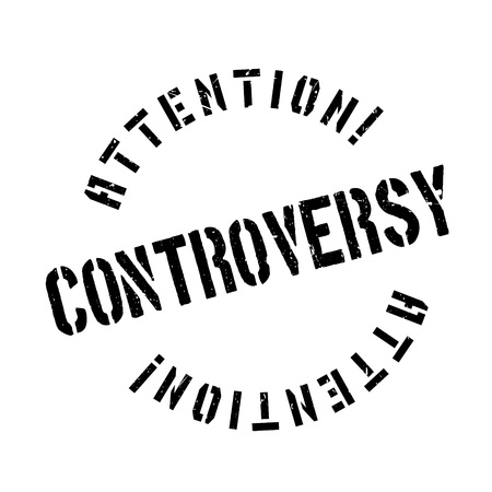 disagree: Controversy rubber stamp. Grunge design with dust scratches. Effects can be easily removed for a clean, crisp look. Color is easily changed. Illustration