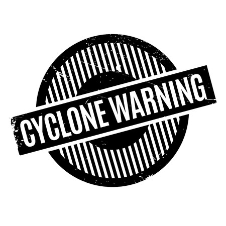 vigilant: Cyclone Warning rubber stamp. Grunge design with dust scratches. Effects can be easily removed for a clean, crisp look. Color is easily changed.