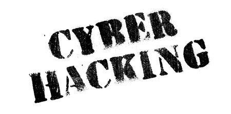 platinum: Cyber Hacking rubber stamp. Grunge design with dust scratches. Effects can be easily removed for a clean, crisp look. Color is easily changed. Illustration