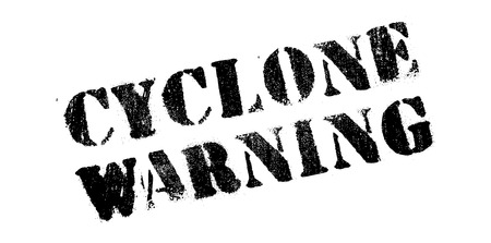 windstorm: Cyclone Warning rubber stamp. Grunge design with dust scratches. Effects can be easily removed for a clean, crisp look. Color is easily changed.