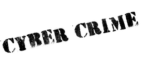Cyber Crime rubber stamp. Grunge design with dust scratches. Effects can be easily removed for a clean, crisp look. Color is easily changed. Vektorové ilustrace