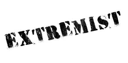 Extremist rubber stamp. Grunge design with dust scratches. Effects can be easily removed for a clean, crisp look. Color is easily changed.