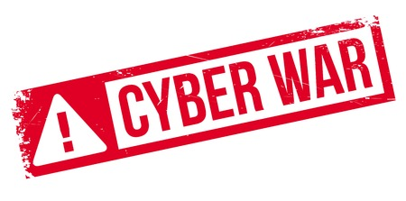 cyber warfare: Cyber War rubber stamp. Grunge design with dust scratches. Effects can be easily removed for a clean, crisp look. Color is easily changed. Illustration