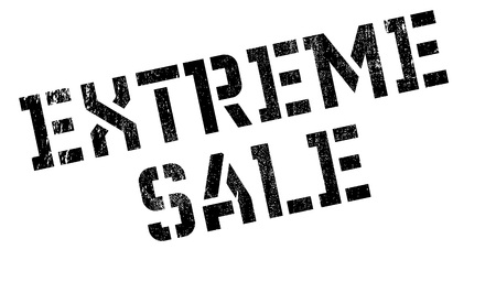 Extreme Sale stamp. Grunge design with dust scratches. Effects can be easily removed for a clean, crisp look. Color is easily changed. Illustration