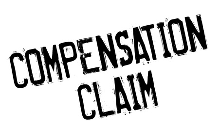 insurance claim: Compensation Claim rubber stamp. Grunge design with dust scratches. Effects can be easily removed for a clean, crisp look. Color is easily changed.