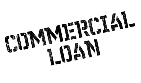 lending: Commercial Loan rubber stamp. Grunge design with dust scratches. Effects can be easily removed for a clean, crisp look. Color is easily changed.