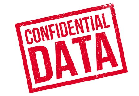 Confidential Data rubber stamp. Grunge design with dust scratches. Effects can be easily removed for a clean, crisp look. Color is easily changed. Illustration