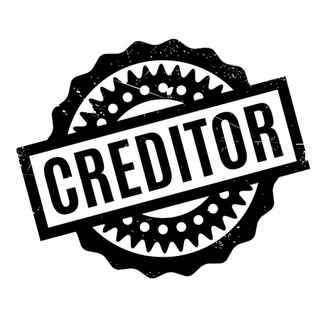 recipient: Creditor rubber stamp. Grunge design with dust scratches. Effects can be easily removed for a clean, crisp look. Color is easily changed.