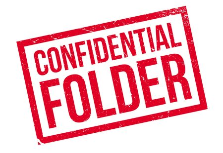 hushed: Confidential Folder rubber stamp. Grunge design with dust scratches. Effects can be easily removed for a clean, crisp look. Color is easily changed.